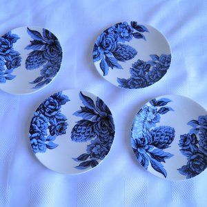 Marchesa Lenox Midnight Blue 4 Tidbit Plates